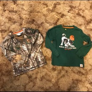 2T Carhartt long sleeve shirts